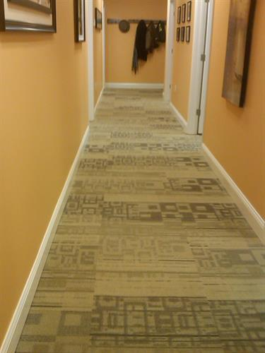 Carpet Tiles - Commercial Hallway