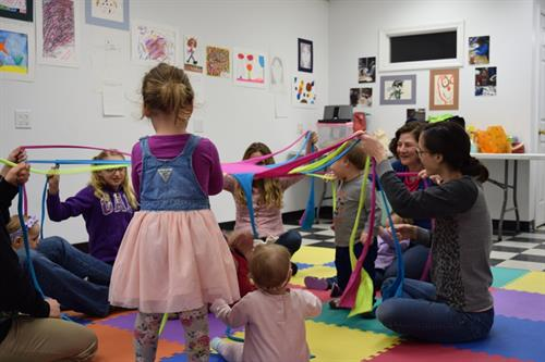 Music and Movement class for Toddlers and Preschoolers at the Arts Center annex