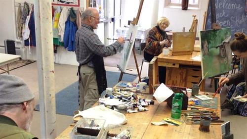Open Studio Art Group for Adults in the Arts Center Studio