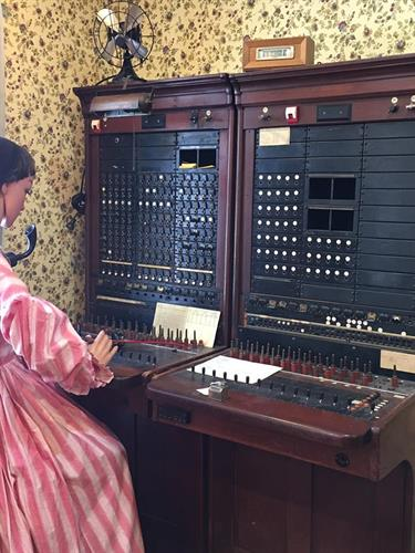 Visitors can see a demonstration of a switchboard.