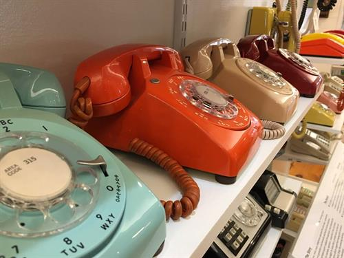 and many of the brightly colored phones from the 70's and 80's.