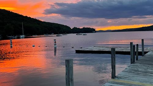 The end of a beautiful day on Lake Sunapee