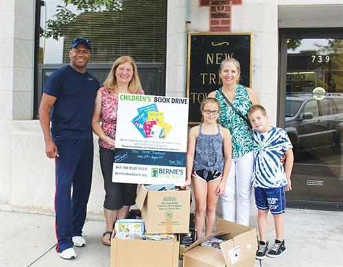 Township Residents Help With Bernie's Book Bank Collection