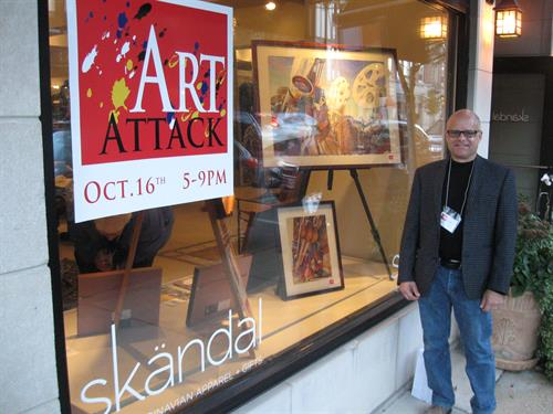 Art Attack in Hubbard Woods Design District - October