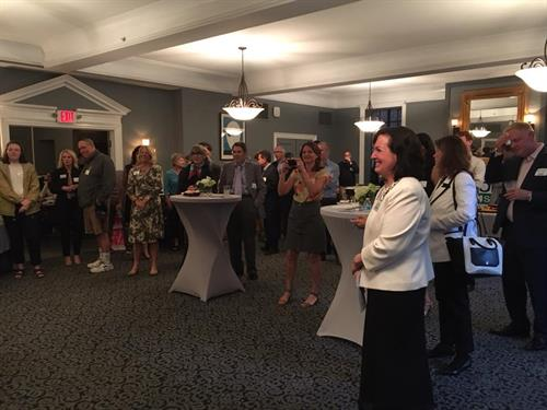 Margarita European Inn in Evanston.  WOW. Thank you to everybody who made it out to our fundraiser last night. I am overwhelmed by the outpouring of support this campaign has received. Big thank you to Robert Dold for headlining our event. Couldn't make it out? We have a huge fundraising deadline on June 30 and can still use your help!  https://politics.raisethemoney.com/joanforillinois