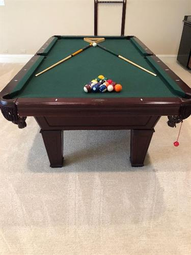 Brunswick Pool Table at Kenilworth Estate Sale