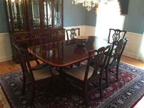 Baker Table and Chair Set at Kenilworth Estate Sale