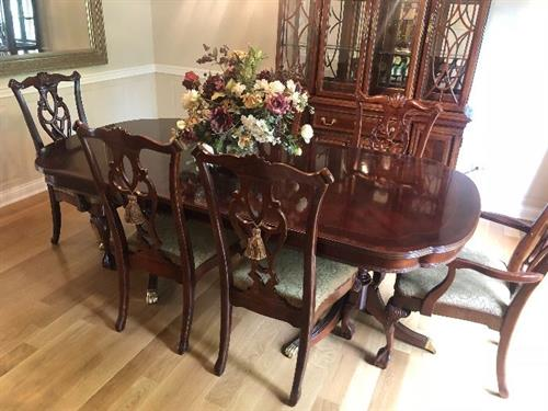 Stickley Table and Chair Set at Winnetka Estate Sale