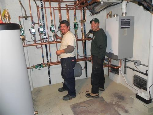 A Proud installation team.  Our technicians really take ownership of their work