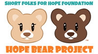 Short Folks For Hope Foundation's Hope Bear Project. Logo by Allie Short.