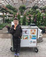 Cool Treats For Charity and Isaiah at Young's Greenhouse, 2016