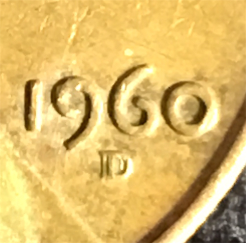 1960-D Re-punched Mint Mark