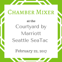 Chamber Mixer at Courtyard by Marriott Seattle SeaTac