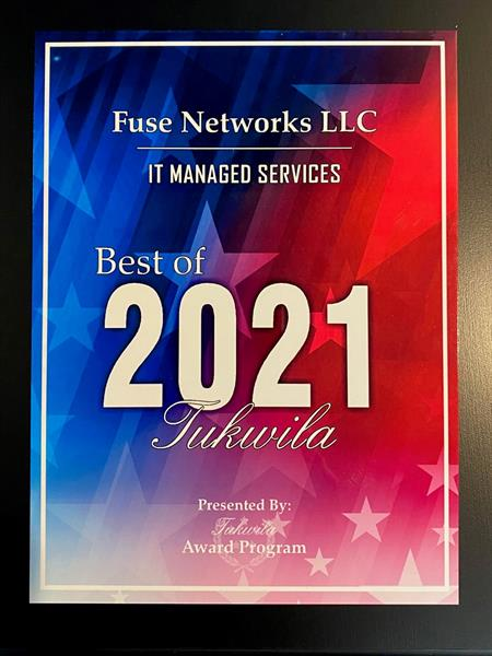 Best of Tukwila 2021 - IT Managed Services