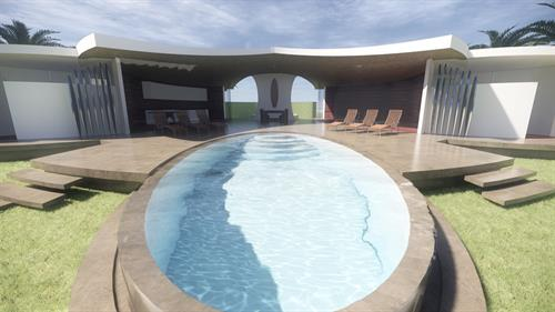Wave House Santa Teresa, Costa Rica, Concept Beach House Design