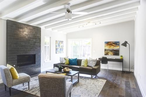 Living Room: Campbell, California, Complete Interior Remodel
