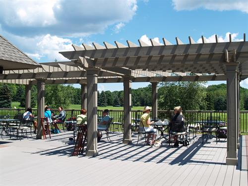 Outside dining on the North Deck