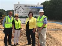 Pineview Cottage ground breaking