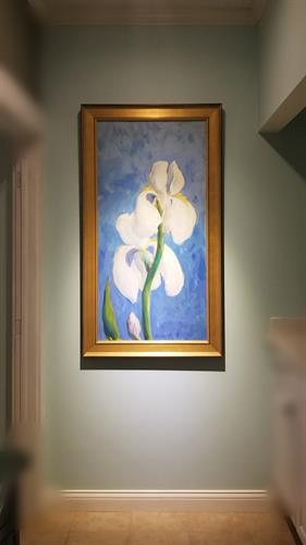 Blue Orchid (up close and personal) by local artist. Margaret Tvedten . Just like our service to you. We excell at making your time spent with us a remarkable experience!