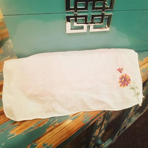 We are big on unique and focused on detail . With every massage we use a hand crafted eye pillow filled with locally grown lavender . These are warmed to the perfect temperature to place over your eyes snd sinuses to soothe and enhance the senses during massage . For a final special touch we cover each of these eye pillows with an antique handkercheif . Just another way we share our loving vibes with each person who visits us at Frye Massage & Wellness!
