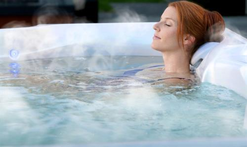 Relax in a Hot Spring® Spa