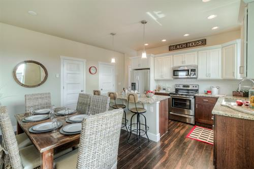 Great Kitchen and Open Dining in Coast Cottage