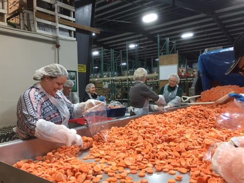 Bank employees volunteer at Coastal Harvest Food Bank