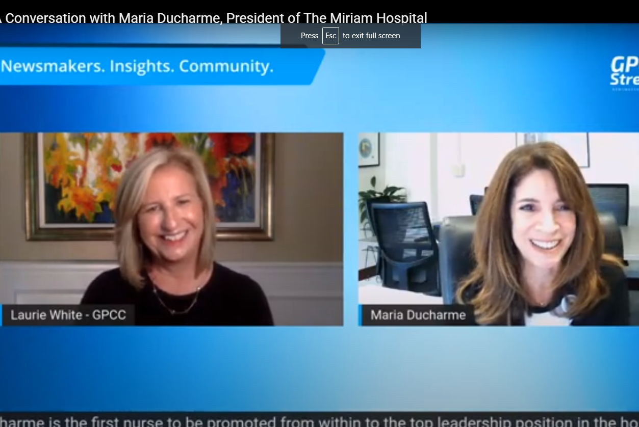 Image for A Conversation with Maria Ducharme, President of The Miriam Hospital