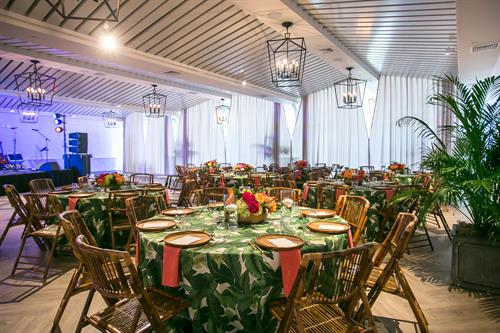 Luau-Themed Event at Newport Beach House