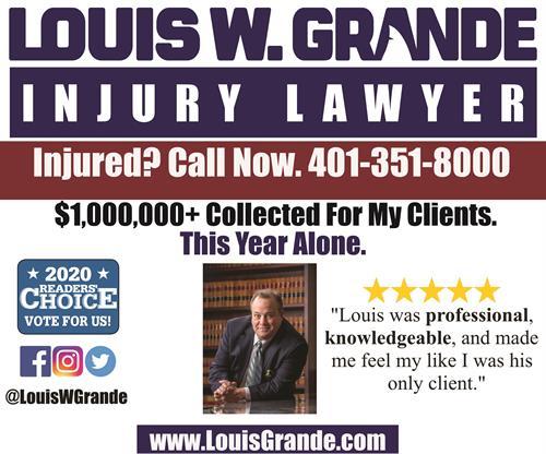 2020 Providence Journal Advertisement - Louis W. Grande