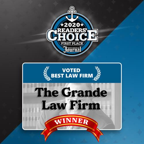 Providence Journal's Readers' Choice Winner for Law Firm in RI 2020