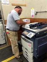 Marc testing a machine