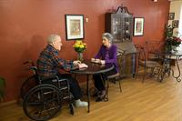 Residents enjoying a cup of tea in our Bistro/Cafe at Bethany Home.