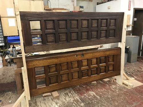 Door restoration, including hardware, function, and weather sealing