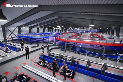 Worlds Largest Race Track Rendering