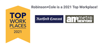 Robinson+Cole Recognized Among Top Workplaces 2021 in Connecticut and New York City