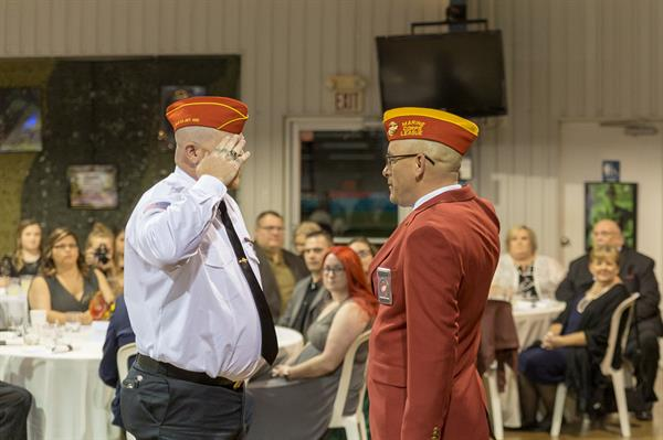 Marine Corps Birthday Ball (2018) - Commandant Robert Bell presents awards to members