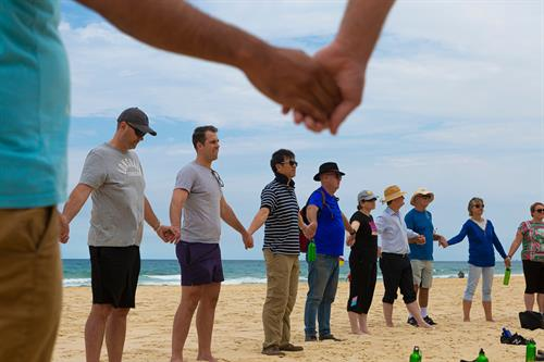 Deepening connections at conferences with outdoor walking workshops - this example is from a conference on the Gold Coast