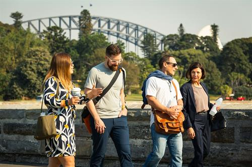 A perfect morning to connect with peers in Sydney's Royal Botanic Gardens
