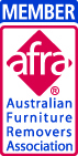 Afra accredited (Australian Furniture Removers Association)