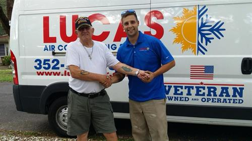 I had the pleasure of meeting and servicing an AC unit for Steve. Steve is a local Combat Veteran of the Korean War serving in the U.S. Army. Unfortunately there are not many of these brave men left so when you have the privilege of meeting one, please thank them for their service! HOOAH!