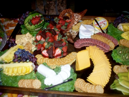 A unique, finger-food appetizer provided for a private party reserved at the Palisades Restaurant!