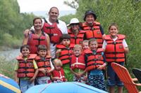 Family fun rafting trip near Gunnison, Colorado