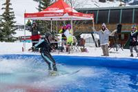 DJ'ing the pond skim at Crested Butte Mountain Resprt!