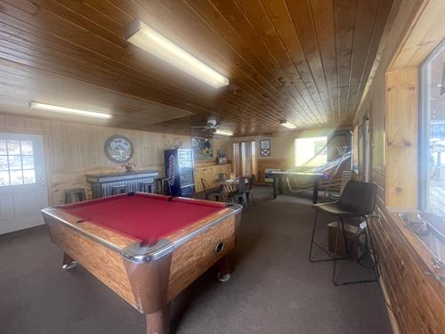 Game room at the lodge