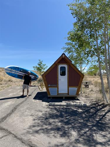 Camping Pods come with Use of Paddleboards