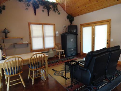 Cozy Turtle Kitchen/Great room, dining and living room areas