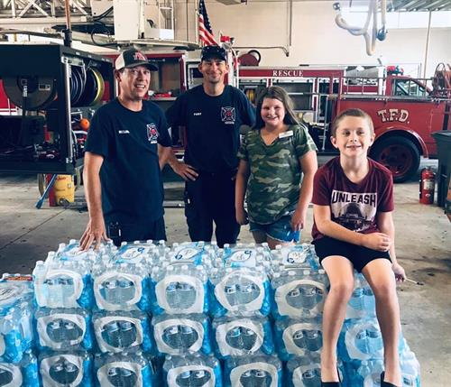 Donation to Tahlequah Fire Department from Jennifer Yerton at Farmers Insurance Agency