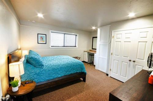 Bedroom at at The Spring Street Hideaway in Downtown Tahlequah Oklahoma