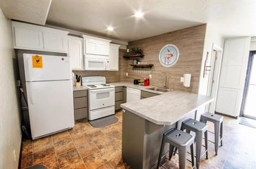 Kitchen at at The Spring Street Hideaway in Downtown Tahlequah Oklahoma